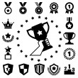 Trophy and awards icons set — Stock Vector #28191081