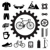 Bicycle icons set — Stockvektor