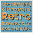 Stock Photo: Retro type font, vintage typography.