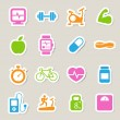 Fitness and Health icons. — Stok fotoğraf