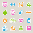 Stock Photo: Fitness and Health icons.