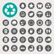 Eco energy icons set. — Stock Photo