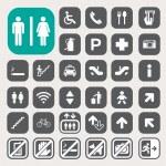 Public icons set — Stock Photo #31096809