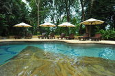 Swimming pool at a tropical resort. — Stock Photo