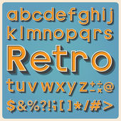 Retro type font, vintage typography. — Stock Photo