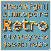 Retro type font, vintage typography. — Stock Photo