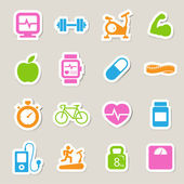 Fitness and Health icons. — Stock Photo