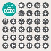 Music icon set — Stock Photo