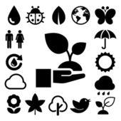 Eco icons set. — Stock Photo