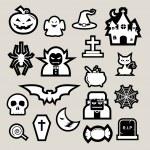 Halloween icon set. — Stock Vector #32792229