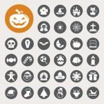 Christmas & Halloween icon set — Stock Vector #32792269