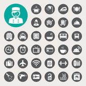 Hotel and travel icon set — Vecteur