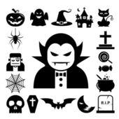 Halloween icon set. — Stock Vector