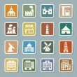 Buildings icon set — Stock Vector #35238591