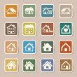 Houses icons set. Real estate. — Stock Vector