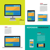 Responsive webdesign — Stock Vector