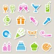 Party and Celebration icon set. — Vector de stock