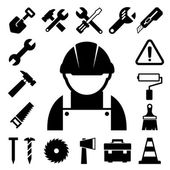 Construction Icons set — Vettoriale Stock