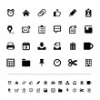 Retina office tools icon set — Vector de stock