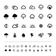 Retina weather icon set — Stock Vector