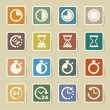 Clocks and time icons set — Stock Vector #42771763