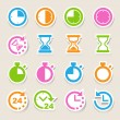 Clocks and time icons set — Stok Vektör