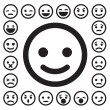Smiley faces icons set — Stock Vector #42771805