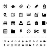 Retina office tools icon set — Stock Vector