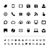 Retina communication icon set — Stock Vector