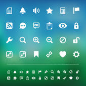 Retina interface icon set — Stock Vector