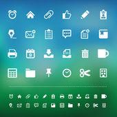 Retina office tools icon set — Stok Vektör