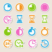 Clocks and time icons set — Stock Vector