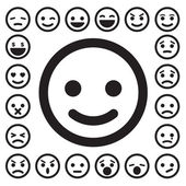 Smiley faces icons set — Stock Vector