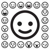 Zestaw ikon twarze buźkę — Wektor stockowy