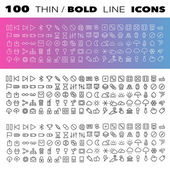 Thin Line Icons set — Stock Vector