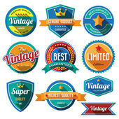 Badges and labels — Stock Vector