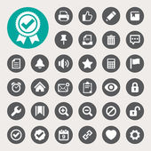 Computer and application interface  icon set — Stock Vector