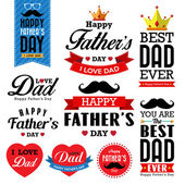 Happy Father's Day Typographical Background — Stock Vector