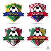 Set of football badges — Vector de stock
