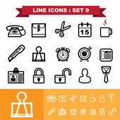 Line icons set — Stock Vector
