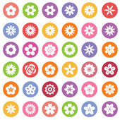 Set of Flower icons. — Stock Vector