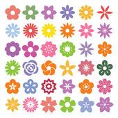 Set of Flower icons — Stock Vector