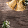 Christmas decoration on wood — Stock Photo #12461539