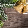 Stock Photo: Christmas decoration on wood
