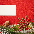Christmas frame on red — Stock Photo