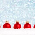 Red Christmas balls — Stock Photo #12461600