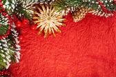 クリスマスの境界線 — ストック写真