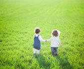 Niño en campo — Foto de Stock