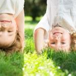Children having fun outdoors — Stock Photo