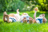 Family having picnic — Stockfoto